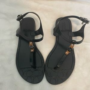 Coach Piccadilly Jelly Sandals Black Size 7
